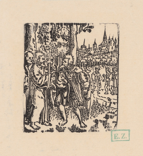 Grafik, Hans Springinklee, Erhard Schön - Kristus a bohatý mladík