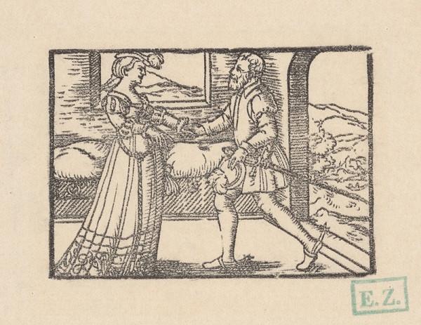 Kopisti, Hans Brosamer - Fortunátovo lúčenie s manželkou Kasandrou