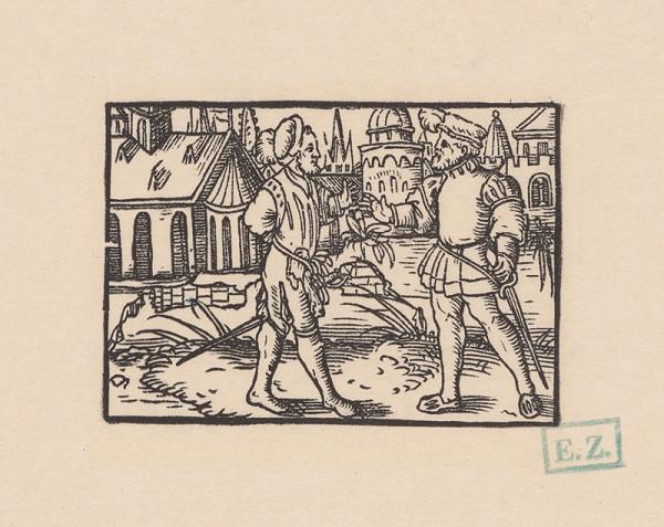 Kopisti, Hans Brosamer - Konverzácia dvoch rytierov na kraji mesta