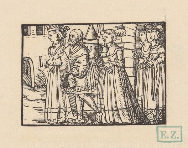Kopisti, Hans Brosamer - Svadobný sprievod kniežaťa Valtera a Grizeldis ?