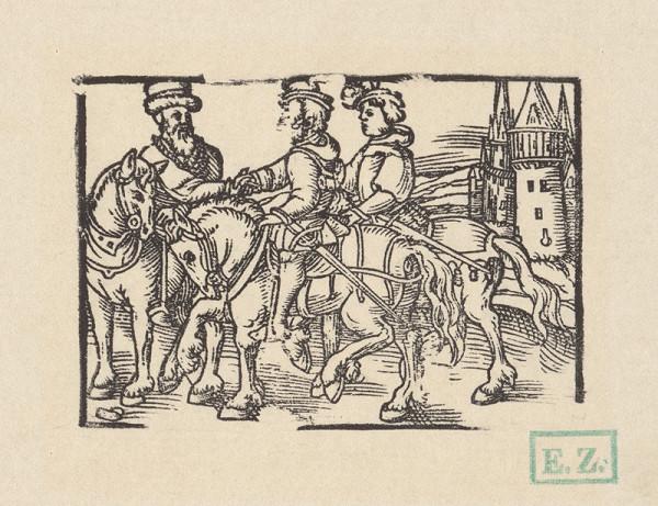 Kopisti, Hans Brosamer – Rozlúčka troch jazdcov