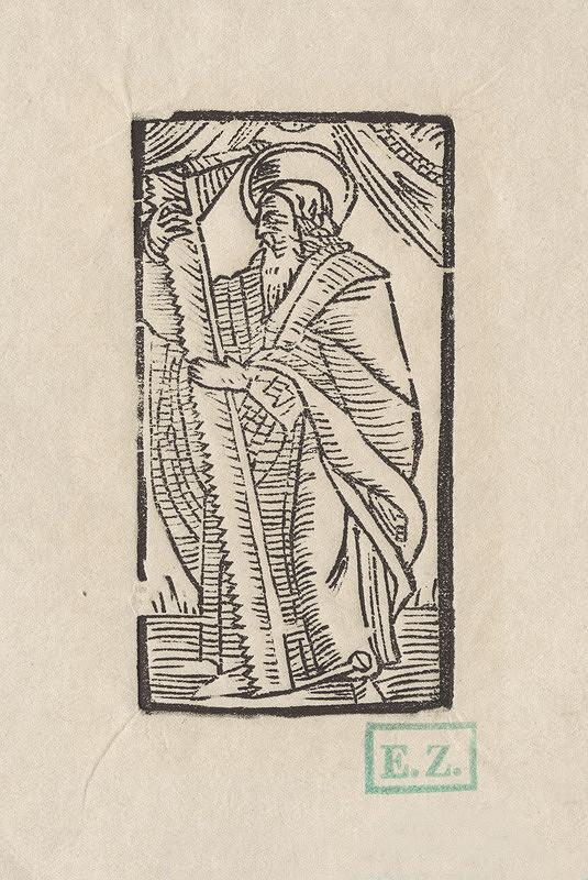 Provinčný grafik preberajúci ikonografický program, Erhard Schön, Hans Springinklee - Svätý Šimon apoštol