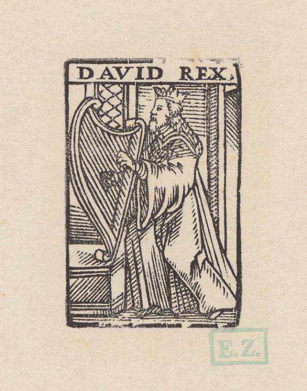 Remeselný grafik - Kráľ Dávid
