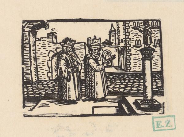 Profesionálny rezač štočkov, Hans Wolff Glaser, Wolfgang Strauch, Hans Weigel – Kráľ Lyceros a Ezop pred zlatým stĺpom na Ezopovu počesť
