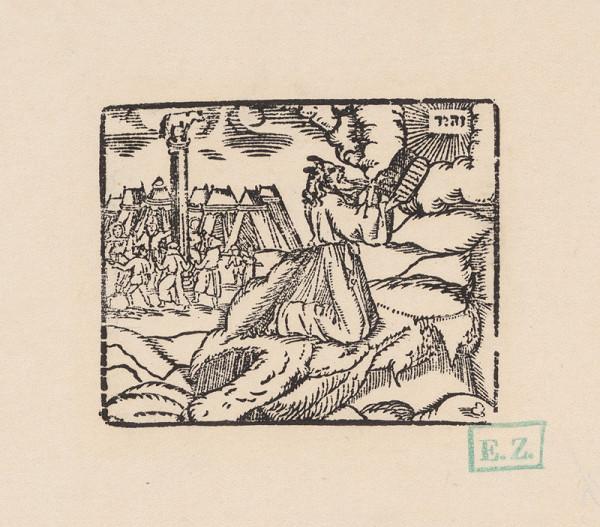 Remeselný grafik – Mojžiš prijíma tabule zákona