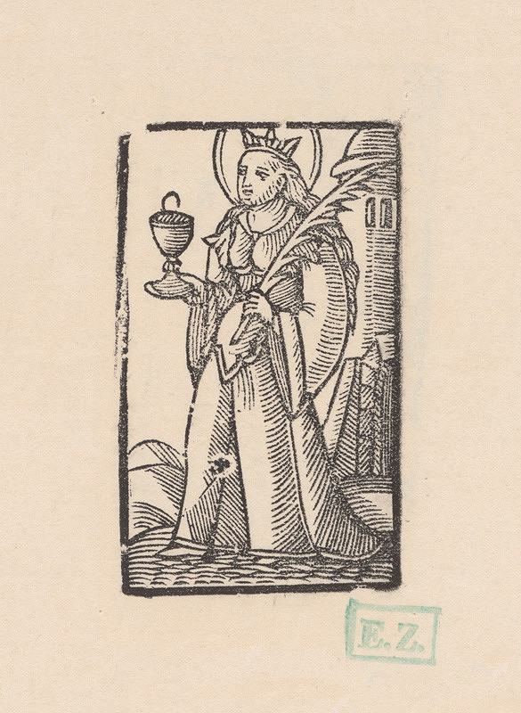 Remeselný grafik – Svätá Barbora panna a mučenica