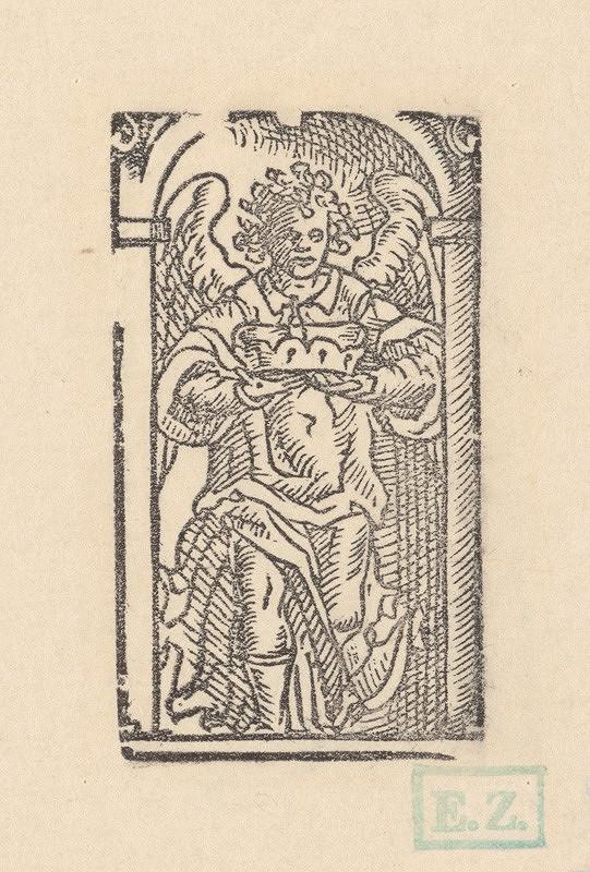 Ilustrátor zdôrazňujúci objem, Jan Willenberger, Virgil Solis ml. – Anjel s kniežacou čiapkou v rukách