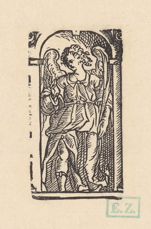 Ilustrátor zdôrazňujúci objem, Jan Willenberger, Virgil Solis ml. – Anjel s palmovou ratolesťou