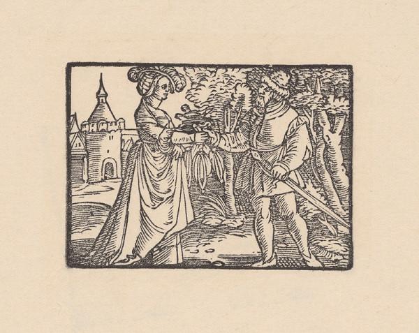 Kopisti, Hans Brosamer - Fortuna odovzdáva Fortunátovi čarodejné vrecúško