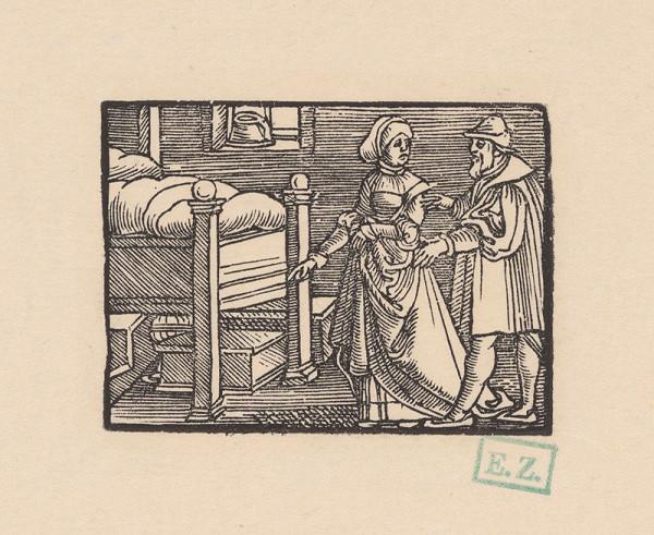 Kopisti, Hans Brosamer - Vdova po zavraždenom zemanovi ukazuje svojmu priateľovi truhličku s kráľovskými klenotmi