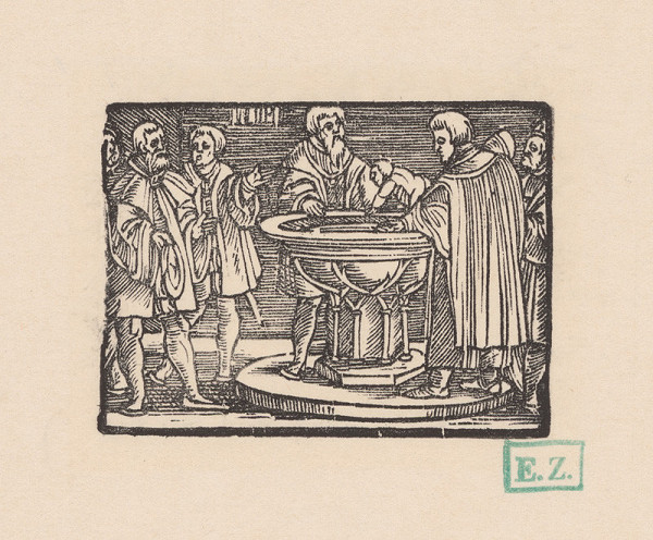 Kopisti, Hans Brosamer – Krst Fortunátovho syna Ampeda