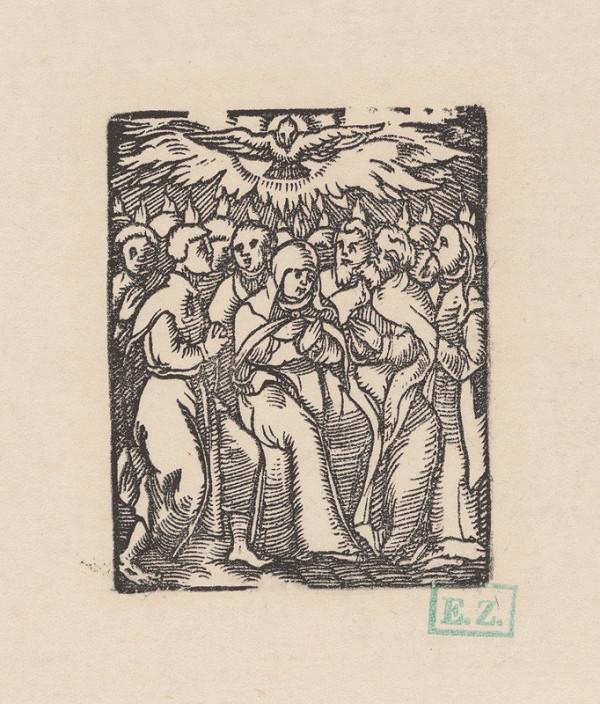 Kopista, Hans Leonhard Schäufelein, Monogramista IS s lopatkou – Zoslanie Svätého Ducha