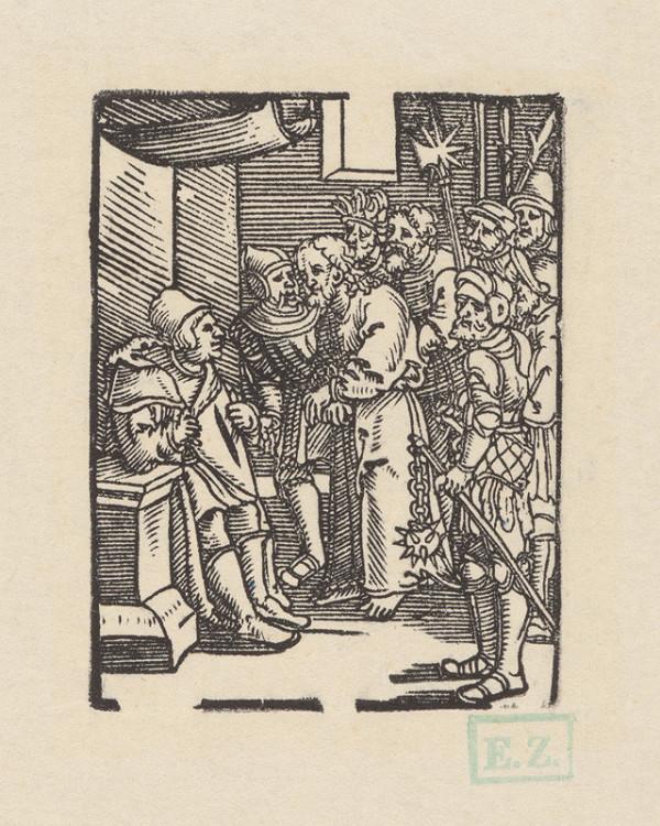 Erhard Schön – Kristus pred Annášom