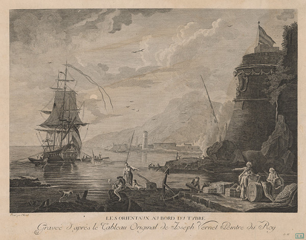 Claude-Joseph Vernet – Orientálci v prístave na Tibere ?