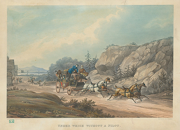 Charles B. Newhouse, J. Harris – Dostavník so splašenými koňmi