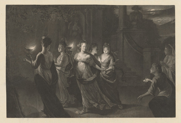 Stredoeurópsky grafik z prelomu 18. - 19. storočia – Vestálky