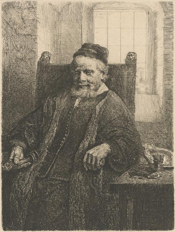 Rembrandt van Rijn - Portrét Jana Lutnu staršieho