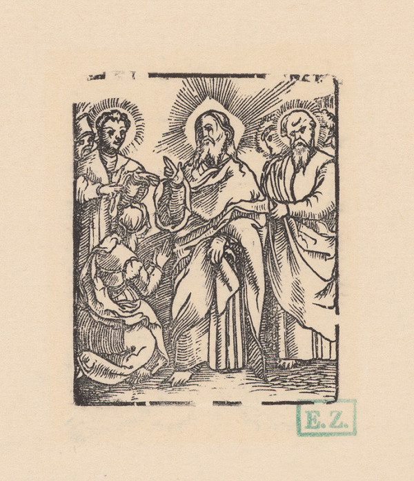 Kopista, Hans Leonhard Schäufelein, Monogramista IS s lopatkou - Kristus a kánaanská žena