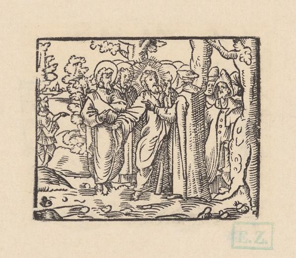 pravdepodobne českí kopisti Husovej Postylly z roku 1564 Stredoeurópski – Kristus a Nikodém