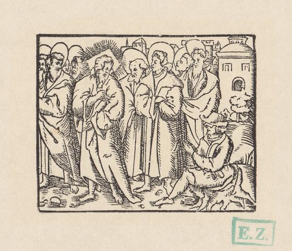 pravdepodobne českí kopisti Husovej Postylly z roku 1564 Stredoeurópski – Uzdravenie slepého