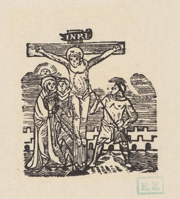 Remeselný grafik empírovej štýlovej orientácie – Ježiš na kríži zomiera