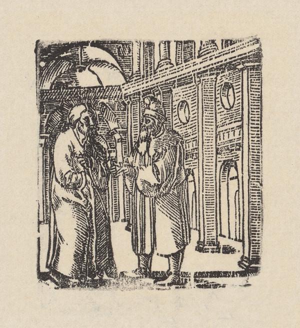 Grafik, Hans Springinklee, Erhard Schön - Kristus a Nikodém