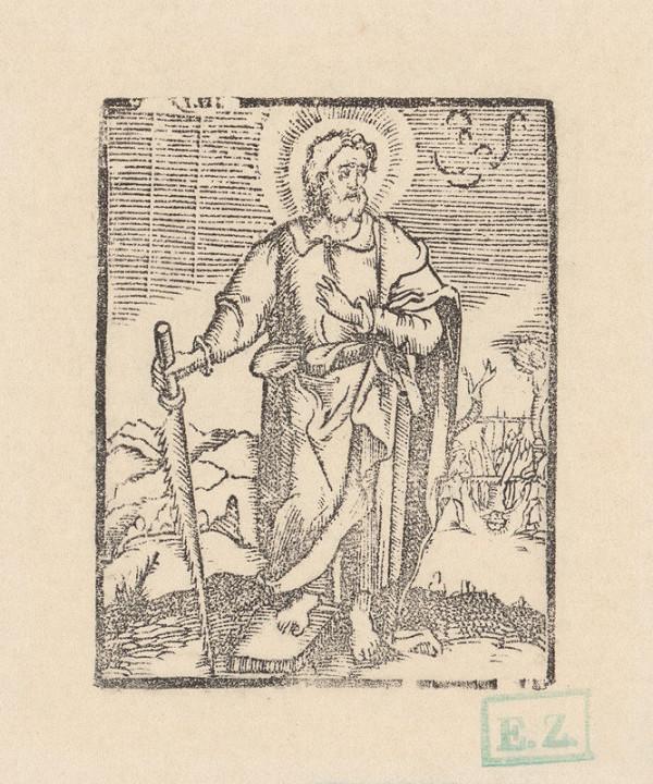 Kopista, Hendrick Goltzius - Svätý Šimon apoštol