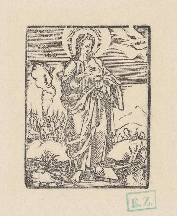 Kopista, Hendrick Goltzius - Svätý Ján Evanjelista