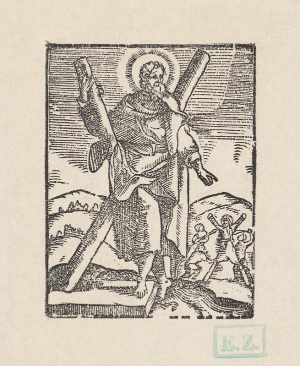 Kopista, Hendrick Goltzius - Svätý Ondrej apoštol