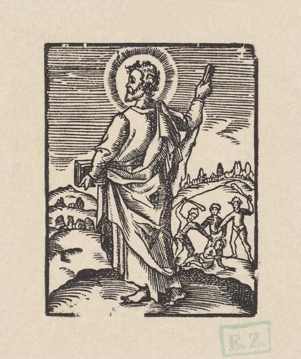 Kopista, Hendrick Goltzius – Svätý Júda Tadeáš apoštol