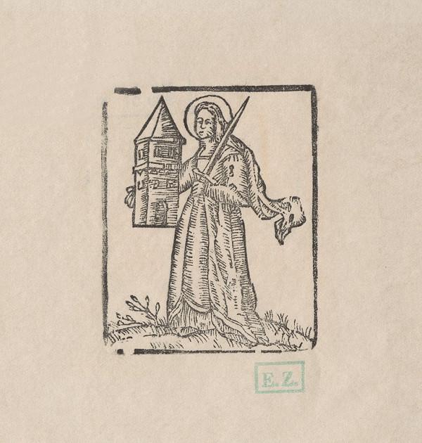 Provinčný naivný grafik – Svätá Barbora
