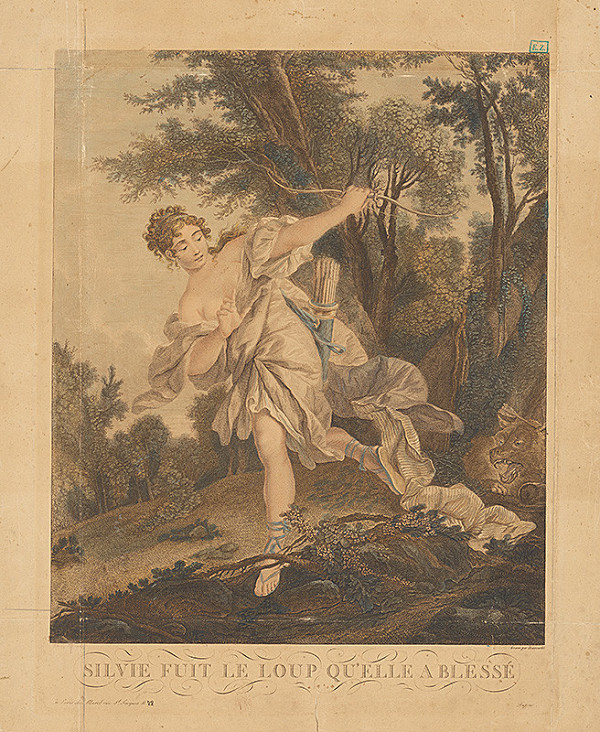 Jacques Firmin Beauvarlet – Diana na love