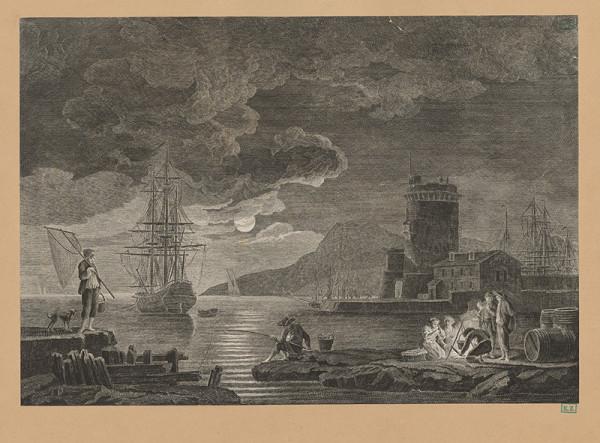 Claude-Joseph Vernet – Večer v prístave