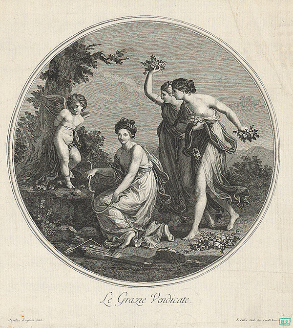 Francesco del Pedro, Angelica Kauffmann – Amorček a tri grácie