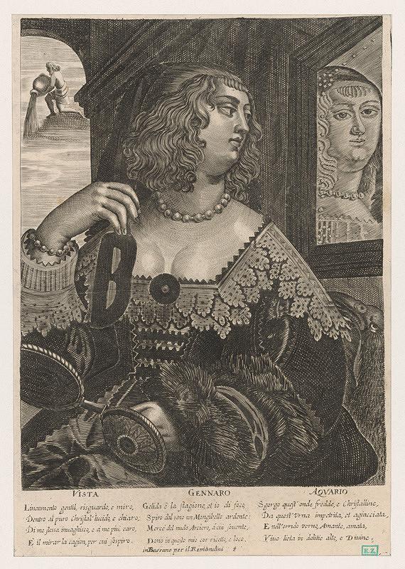 Alessandro Temini, Giovanni Antonio Remondini – Alegória mesiaca január