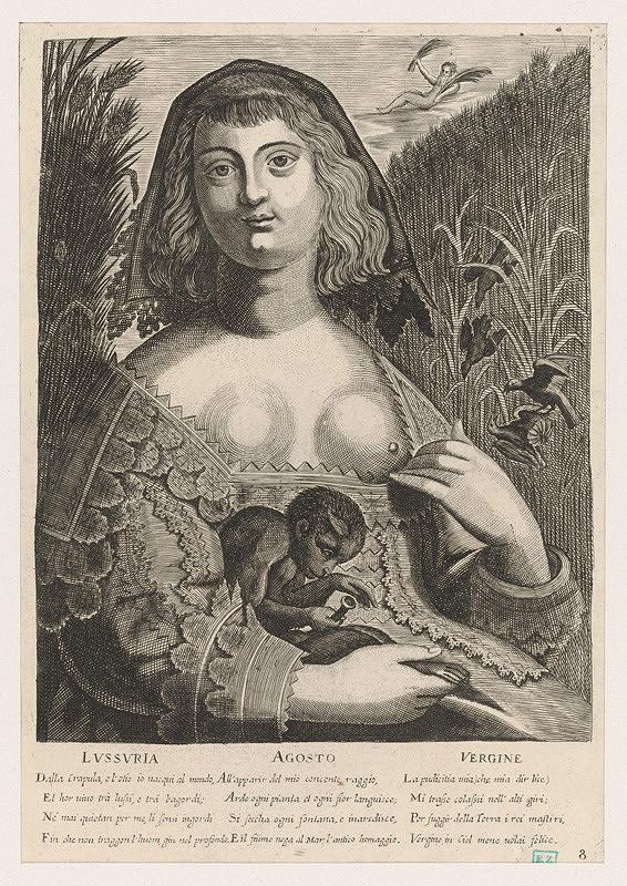Alessandro Temini, Giovanni Antonio Remondini – Alegória mesiaca august