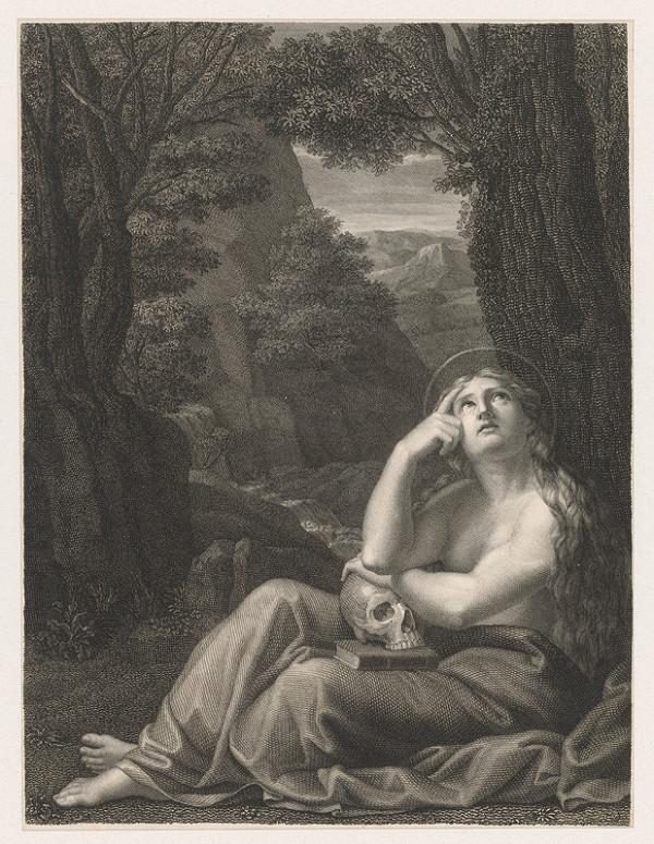Stredoeurópsky grafik zo začiatku 19. storočia - Mária Magdaléna