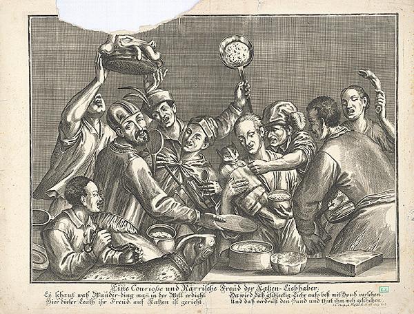 Johann Christoph Haffner - Deväť bláznov kŕmi mačku rôznymi jedlami