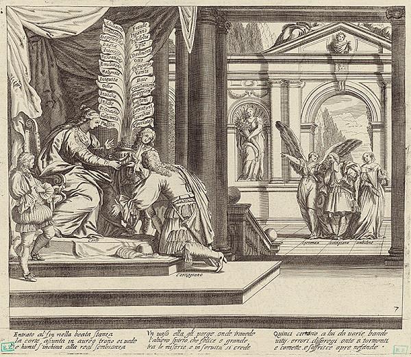 Taliansky rytec z 1. polovice 18. storočia – Alegorická scéna