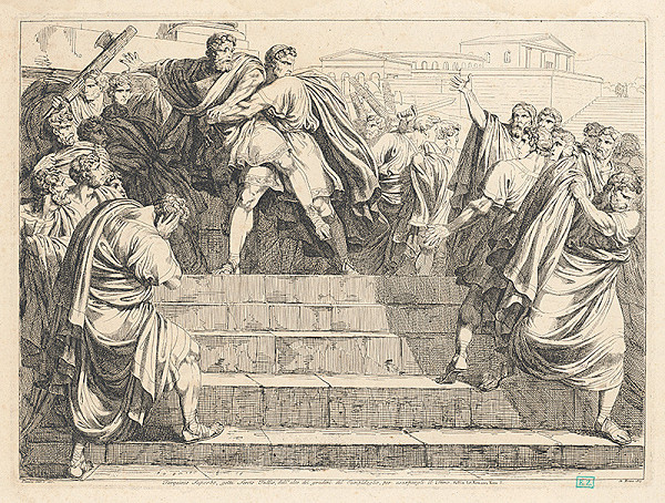 Bartolomeo Pinelli – Tarquinius Superbus na Kapitole