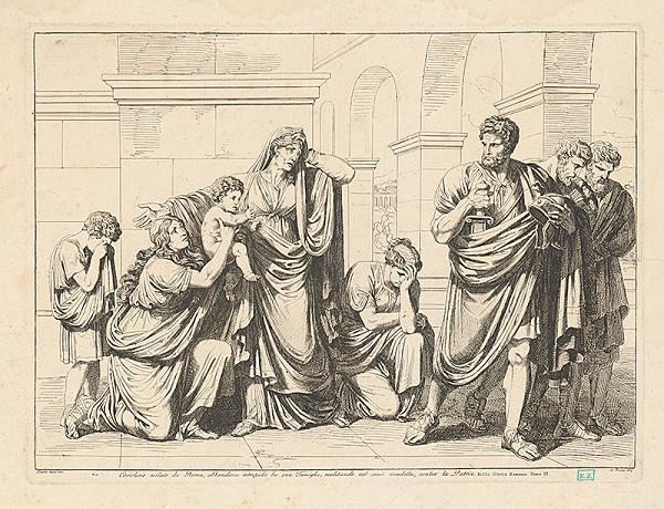 Bartolomeo Pinelli – Koriolán vyhnaný z Ríma