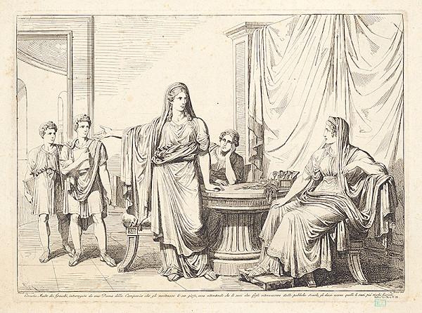 Bartolomeo Pinelli – Cornelia matka Gracchova