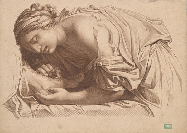 Nemecký grafik z prelomu 18. - 19. storočia - Mária Magdaléna