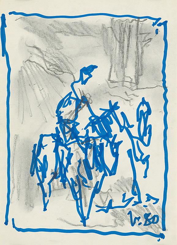 Jaroslav Vodrážka: Don Quijote I., 1980, Galéria umenia Ernesta Zmetáka