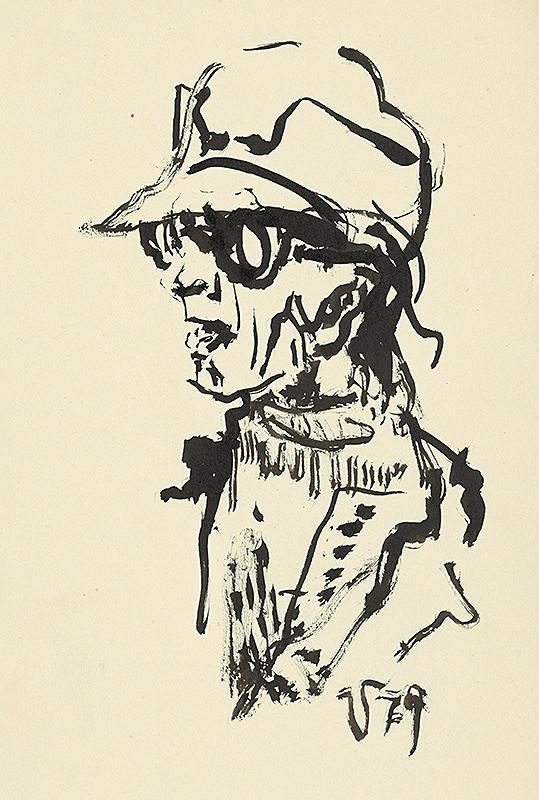 Jaroslav Vodrážka – Portrét muža s okuliarmi