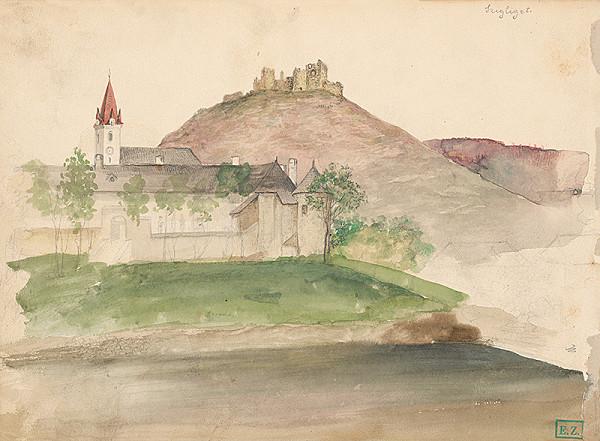 Vojtech Klimkovič – Pohľad na zrúcaniny hradu v Szigliget