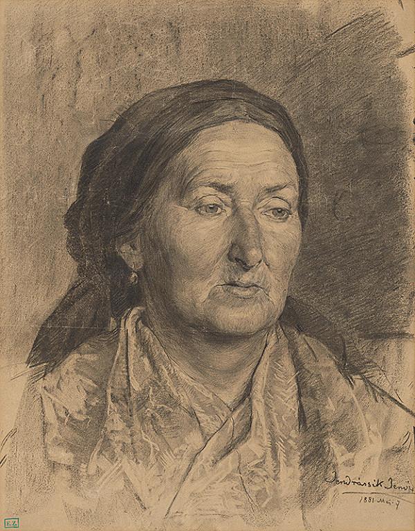 Jenő Jendrassik – Portrét starej ženy v šatke