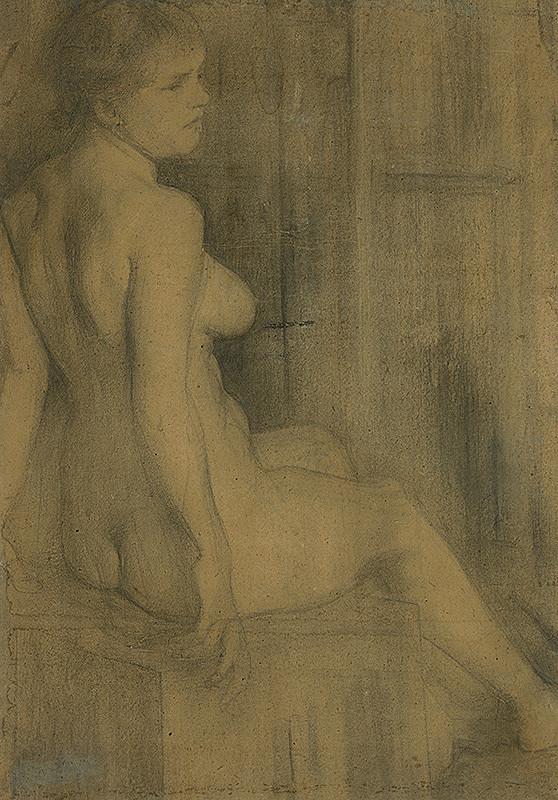 Stredoeurópsky maliar z 1. polovice 20. storočia – Štúdia sediaceho aktu