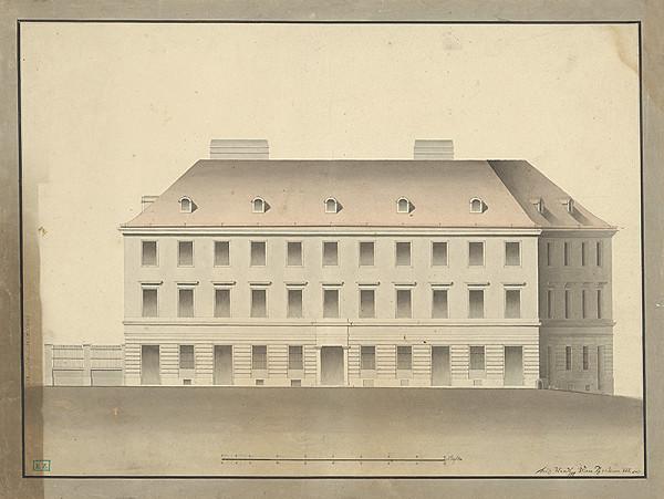 Ferdinand Handl - Návrh na dvojposchodovú klasicistickú budovu