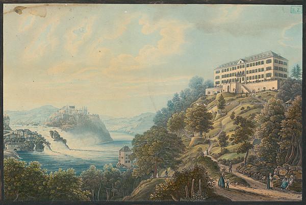 Stredoeurópsky maliar z polovice 19. storočia – Romantická krajina so zámkom